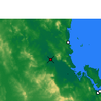 Nearby Forecast Locations - Rockhampton - Carte