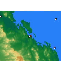Nearby Forecast Locations - Gladstone - Carte