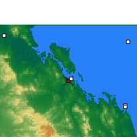 Nearby Forecast Locations - Gladstone Aéroport - Carte