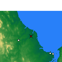 Nearby Forecast Locations - Bundaberg - Carte