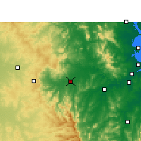 Nearby Forecast Locations - Gatton - Carte
