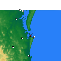 Nearby Forecast Locations - Rainbow Beach - Carte