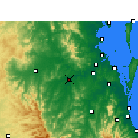 Nearby Forecast Locations - Amberley - Carte