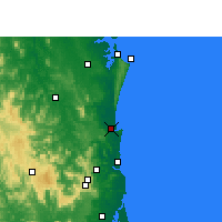 Nearby Forecast Locations - Tewantin - Carte