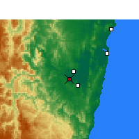 Nearby Forecast Locations - Grafton - Carte