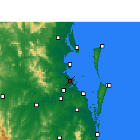 Nearby Forecast Locations - Brisbane - Carte