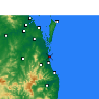 Nearby Forecast Locations - Gold Coast Seaway - Carte