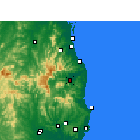 Nearby Forecast Locations - Murwillumbah - Carte