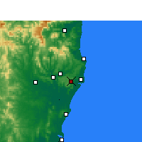 Nearby Forecast Locations - Alstonville - Carte