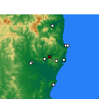 Nearby Forecast Locations - Lismore - Carte