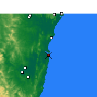 Nearby Forecast Locations - Yamba - Carte