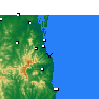 Nearby Forecast Locations - Coolangatta - Carte