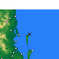 Nearby Forecast Locations - Cape Moreton - Carte