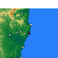 Nearby Forecast Locations - Ballina - Carte
