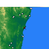 Nearby Forecast Locations - Evans Head - Carte