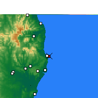 Nearby Forecast Locations - Byron Bay - Carte