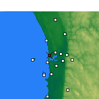 Nearby Forecast Locations - Swanbourne - Carte