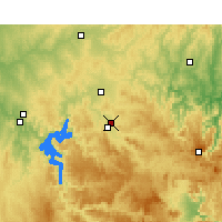 Nearby Forecast Locations - Mudgee Aéroport - Carte