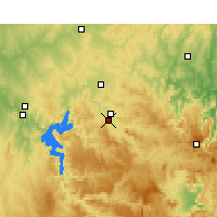 Nearby Forecast Locations - Mudgee - Carte