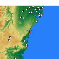 Nearby Forecast Locations - Bellambi Aws - Carte
