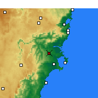 Nearby Forecast Locations - Nowra-Bomaderry - Carte