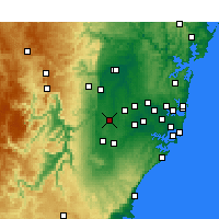 Nearby Forecast Locations - Badgery's Creek - Carte