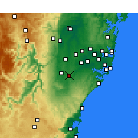 Nearby Forecast Locations - Campbelltown - Carte