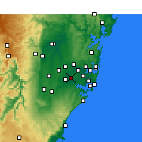 Nearby Forecast Locations - Bankstown - Carte