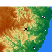 Nearby Forecast Locations - Yarras - Carte