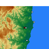 Nearby Forecast Locations - Kempsey (Aéroport) - Carte