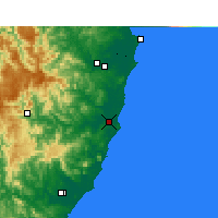 Nearby Forecast Locations - Port Macquarie - Carte