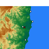 Nearby Forecast Locations - Kempsey - Carte