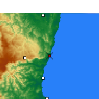 Nearby Forecast Locations - Coffs Harbour - Carte