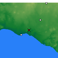 Nearby Forecast Locations - Warrnambool - Carte