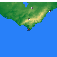 Nearby Forecast Locations - Cap Otway - Carte