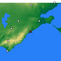 Nearby Forecast Locations - Aireys Inlet - Carte