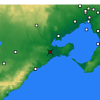 Nearby Forecast Locations - Geelong - Carte