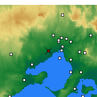 Nearby Forecast Locations - Melbourne - Carte