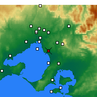 Nearby Forecast Locations - Moorabbin - Carte