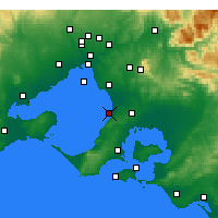 Nearby Forecast Locations - Frankston - Carte