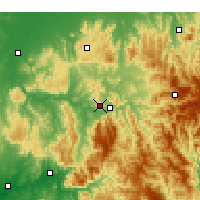 Nearby Forecast Locations - Eildon - Carte
