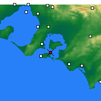 Nearby Forecast Locations - Rhyll - Carte