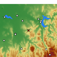 Nearby Forecast Locations - Beechworth - Carte
