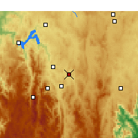 Nearby Forecast Locations - Canberra - Carte