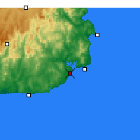 Nearby Forecast Locations - Mallacoota - Carte