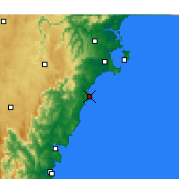 Nearby Forecast Locations - Ulladulla - Carte
