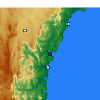 Nearby Forecast Locations - Batemans Bay - Carte