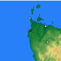 Nearby Forecast Locations - Marrawah - Carte