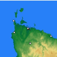Nearby Forecast Locations - Smithton - Carte