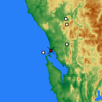 Nearby Forecast Locations - Strahan - Carte